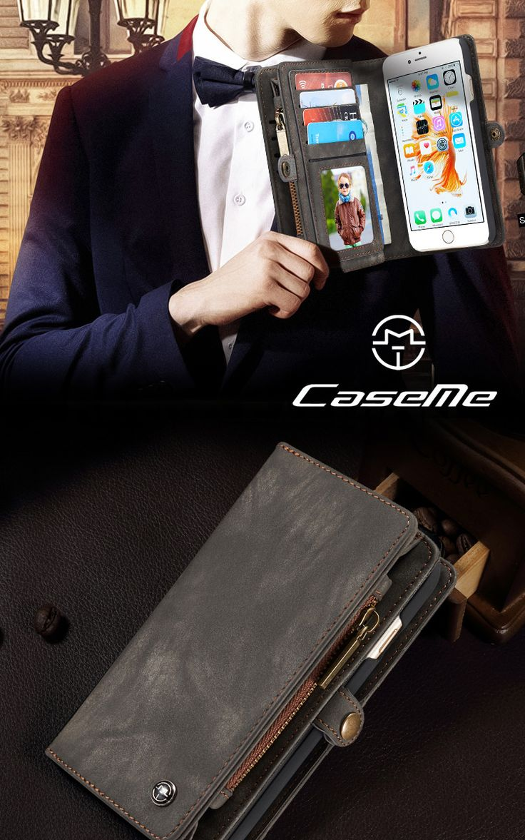 Purchased caseme for iphone 6s 6 retro split leather multi slot purse cover coffee