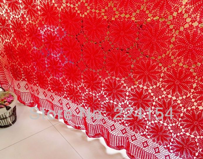 Aliexpress.com : Buy 210x240 CM  Luxurious huge handmade crochet bed cover for wedding decoration  ~ FREE SHIPPING from Reliable Bed cover suppliers on Handmade Shop $218.00