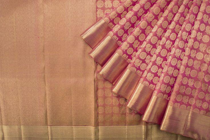 Kanakavalli Handwoven Kanjivaram Silk Sari 1017627 - Collections / Kanjivaram Menagerie - Parisera