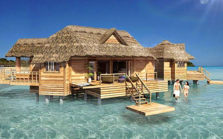Over the water bungalow soon to be built off the private for Honeymoon huts over water