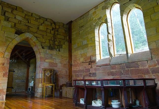 the ruined St Joseph's Church has been restored as a Guest House