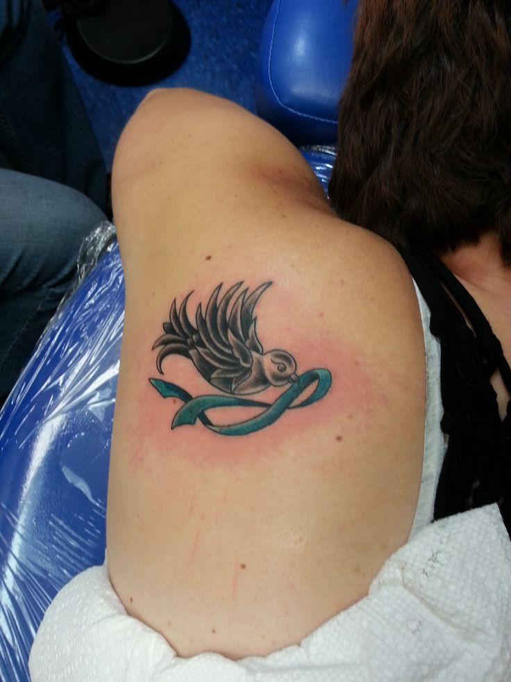 Tattoo in memorial of a loss from ovarian cancer tattoos for Ovarian cancer tattoos