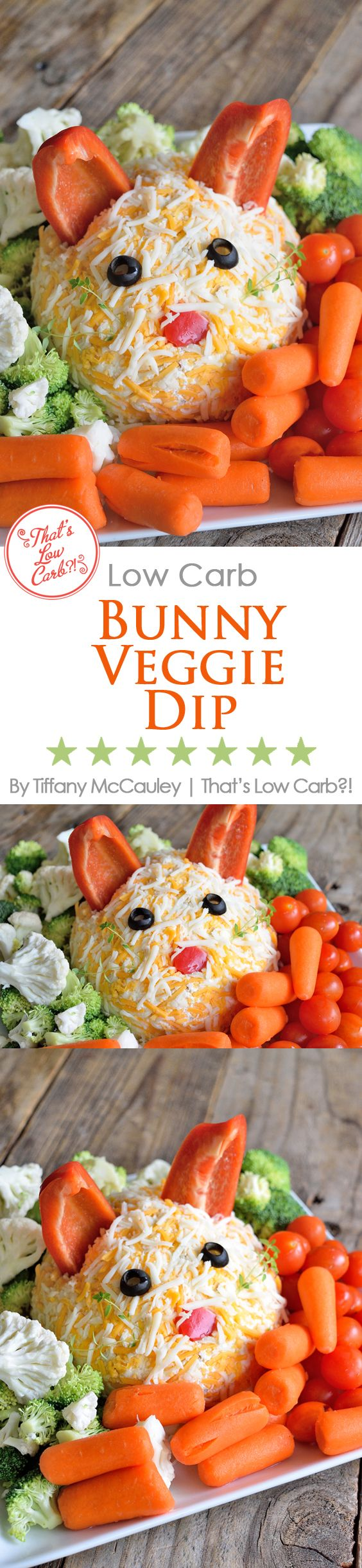 Low Carb Recipes | Veggie Dip Recipes | Easter Recipes | Vegetable Dip ~ https://www.thatslowcarb.com