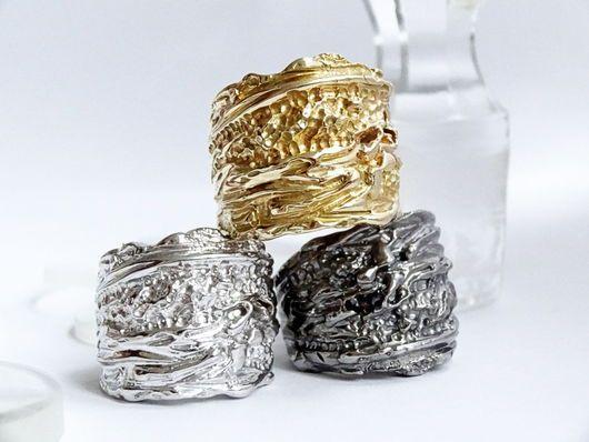 Кольца ручной работы. Золотое фактурное кольцо. KRAVELL (Дима и Алёна). Ярмарка Мастеров. Ювелирные украшения, подарок жевушке, золото