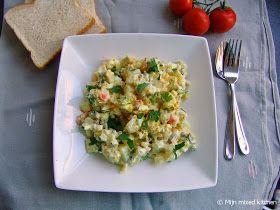 Mijn mixed kitchen: Aardappelsalade met kerriekip (foodblogswap)
