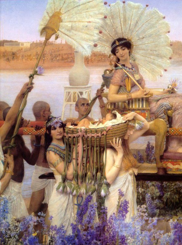 Alma Tadema  The Finding of Moses  Like epic films of the '60s, I have a real soft spot for this kind of painting...