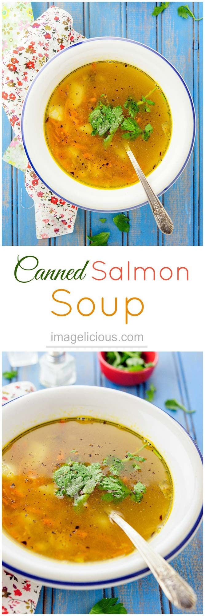 quick, easy, and affordable Canned Salmon Soup, it only takes 20 minutes to make, tastes delicious, healthy, and you have already have all the ingredients in your pantry