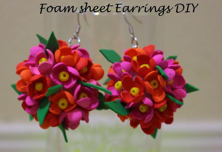 Earrings DIY (using foam sheet) style 2