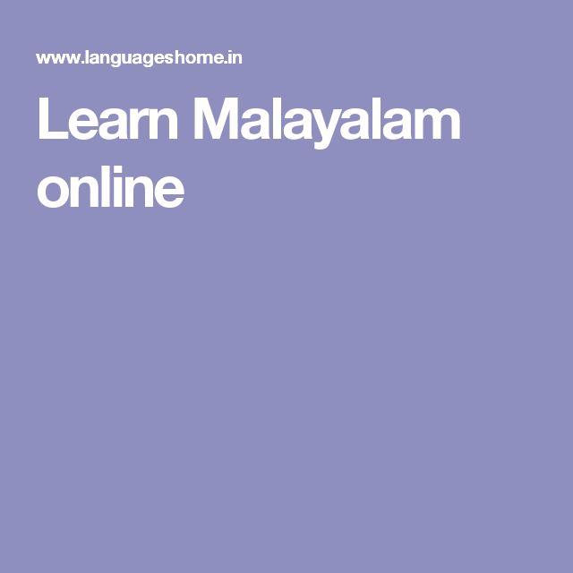Learn Malayalam online