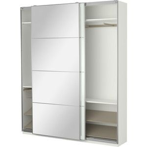 This style ikea wardrobe with the sliding doors at least one door with a mi - Tringle armoire ikea ...