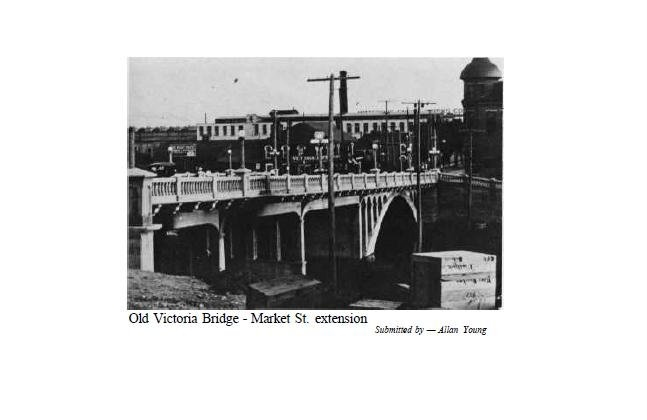 Market St. Bridge where parking garage is now