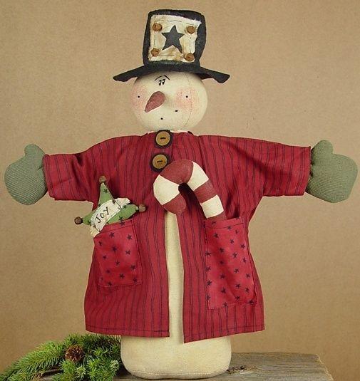 ~HONEY AND ME~Stuffed Doll~WHIMSY JOY SNOWMAN~Primitive Decor~ #HONEYANDME