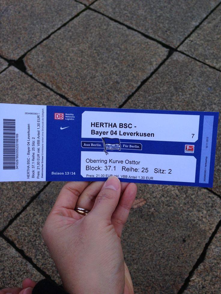 Hertha BSC - Bayer 04 Leverkusen Oberring Kurve Osttor