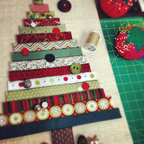Christmas crafts in progress #quilting #buttons #sewing - @dritz_sewing- #webstagram