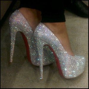 "Stop it! These really are a modern girl's ""glass slippers"". I'd totally marry the man who slipped these on my feet;)!"