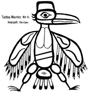 Татуировки Тлинкит (Tlingit) и Хайда (Haida). Северо-западное По