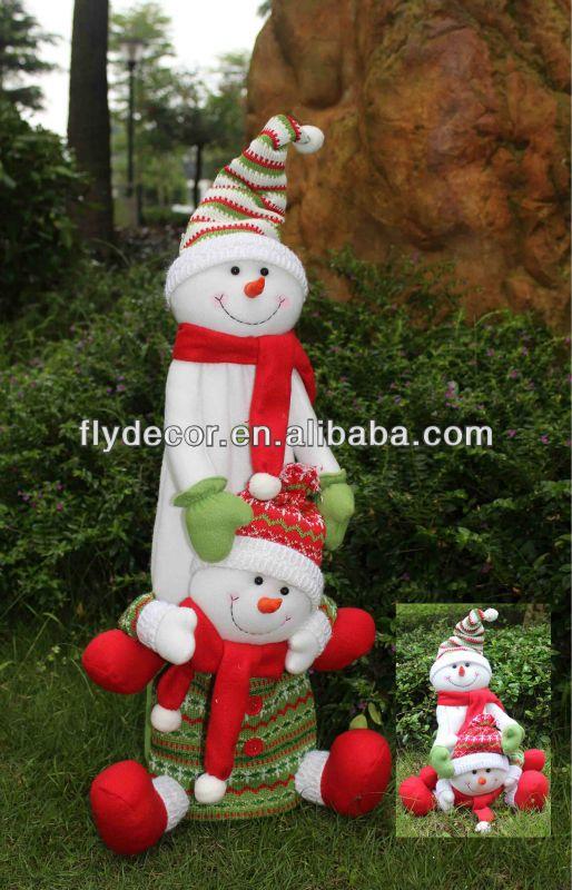 tela extensible muñeco de nieve decoración del hogar