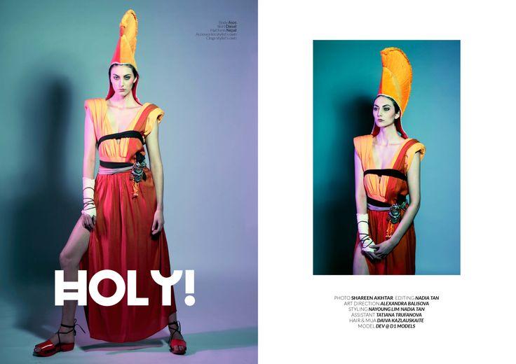 Photo: Shareen Akhtar Editing: Nadia Tan  Art Direction: Alexandra Balisova Styling: Nayoung Lim / Nadia Tan  Assistant: Tatiana Trufanova Hair & MUA: Daiva Kazlauskaite  Model: Dev@D1 models