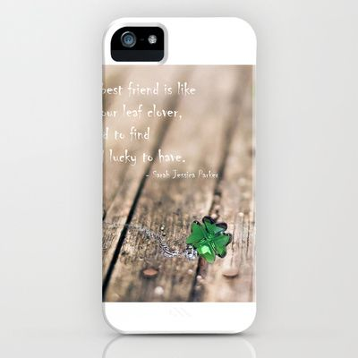 FOUR LEAF CLOVER / GREEN  iPhone & iPod Case by Katherine Song  - $35.00