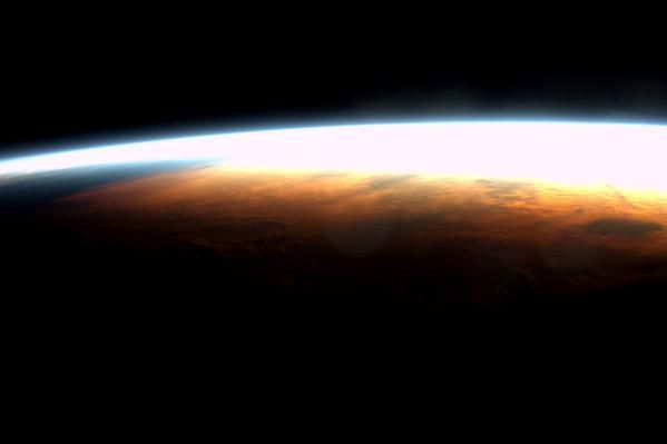 Burleigh sunrise (from space)