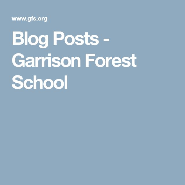 Blog Posts - Garrison Forest School