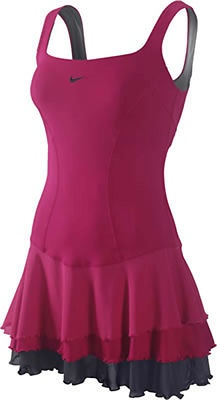 Nike Tennis Dress. This dress hits all the right notes, the flirty ruffled hem and brillant color gets loads of compliments.