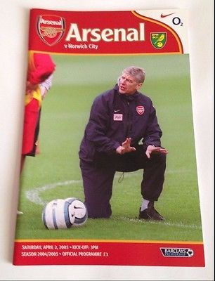 Arsenal v norwich city - #season 2004/2005. #premiership #programme.,  View more on the LINK: 	http://www.zeppy.io/product/gb/2/172415529439/