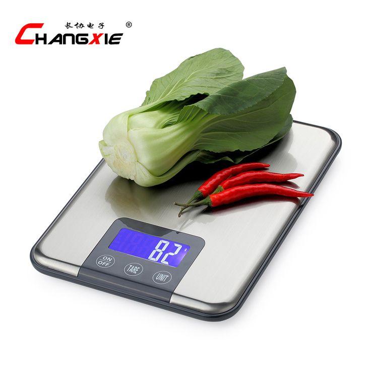 15 KG 1g touchscreen Digitale Küchenwaage 15 kg Big Küche-nahrungsmitteldiät-gewicht-balance-skala Schlank Edelstahl Elektronische waagen