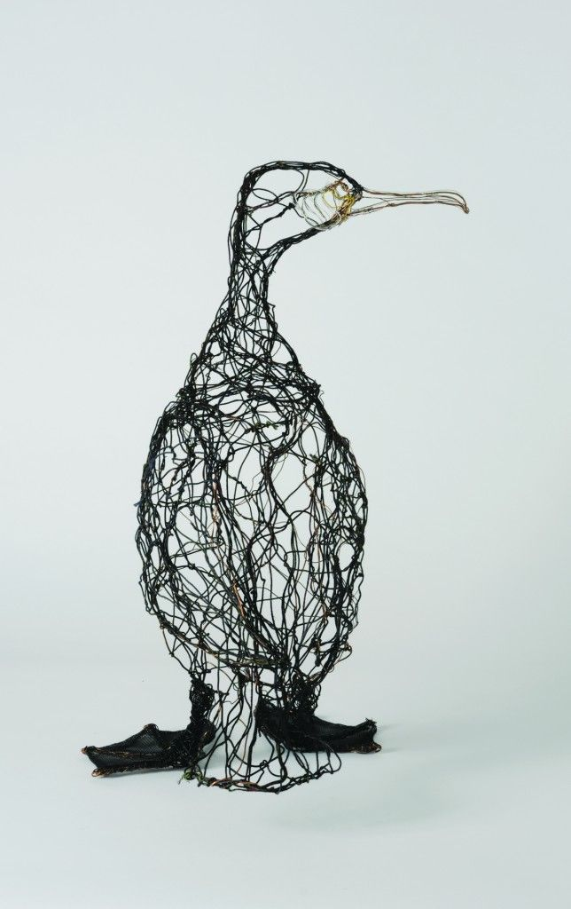 Celia Smith – Made from wire could be a metamorphosis of the albatross from our visit to HNHC
