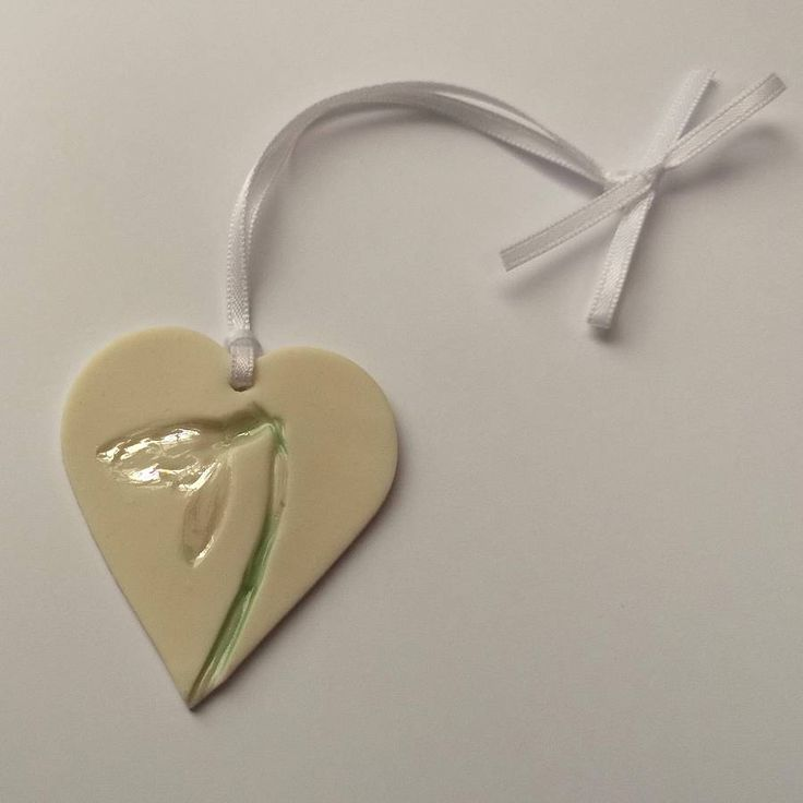 Handmade Hanging Decoration With Snowdrops