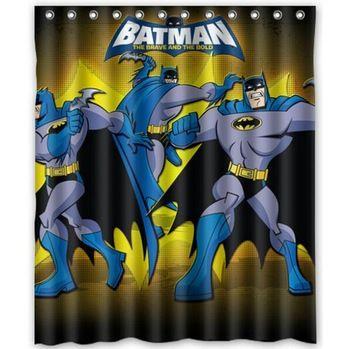 72-Inch By 72-Inch Warner Bros Batman Logo Microfiber Shower Curtain
