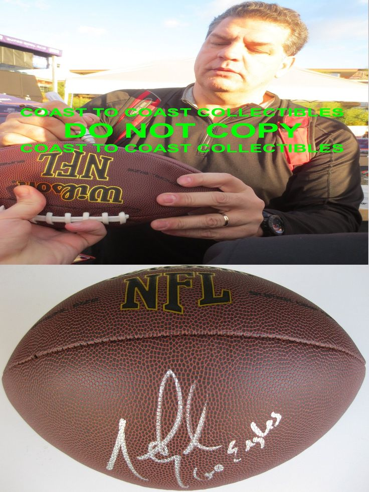 Mike Golic Philadelphia Eagles, Notre Dame, Signed, Autographed, NFL Football, a COA with the Proof Photo of Mike Signing Will Be Included