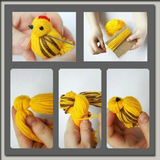 Hiw to make bird from wool