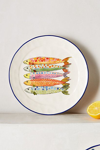 Seriously! How cute is this!!!! Sardina Salad Plate #anthropologie #Anthropologie #PintoWin