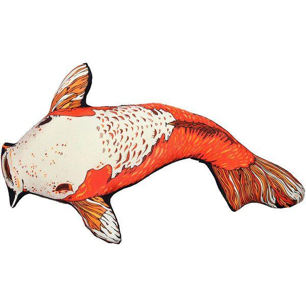 Silken favours koi carpy silk shaped cushion 183 liked for Fish shaped pillow