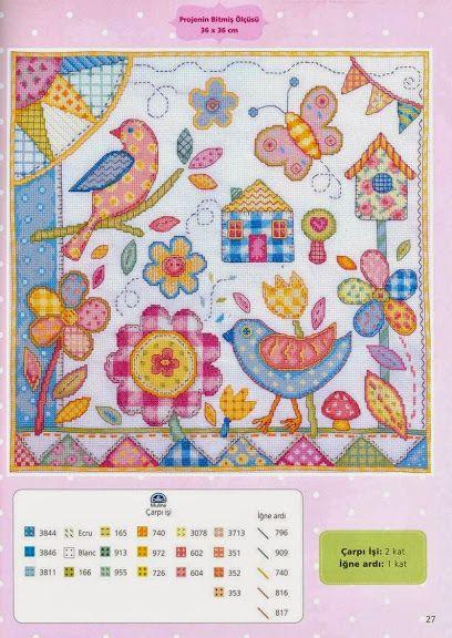 Cross-stitch Springtime, part 2...  the color chart...   032013 - galbut - Álbumes web de Picasa