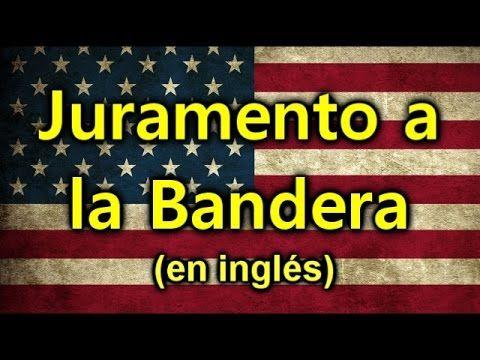 """""""Juramento a la Bandera de los Estados Unidos"""" en inglés (de lento a ráp..."""