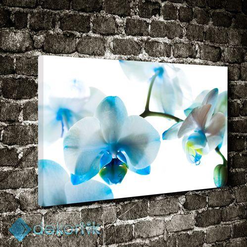 Floral Mavi Orkide Tablo #çiçekli_kanvas_tablo
