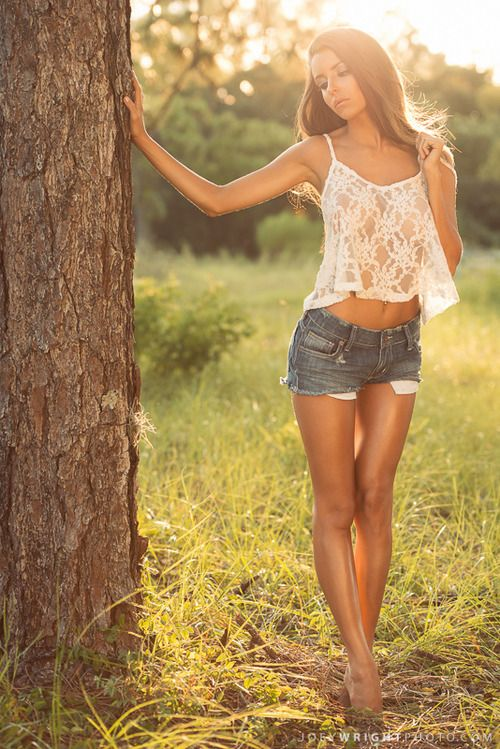 country girl spring time dreaming