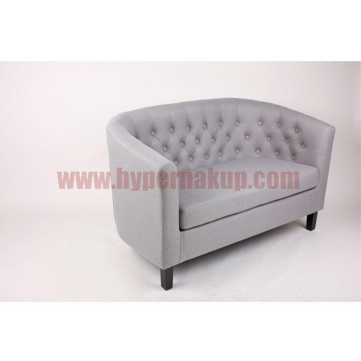 Moderný 2-sed MARON Materiál a farba: Látka sivá, nožičky z masívneho dreva - čierne.  Rozmery (ŠxHxV): 124x76x71 cm, výška x hĺbka sedenia: 41x53 cm.  Dodávané v demonte.  Hmotnosť: 25 kg  Štýlová sedačka 2-Sed, Látka/Masív, Sivá/Čierna, MARON | PREDAJ | HYPERNAKUP.COM | DOPRAVA ZADARMO