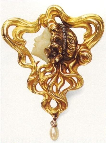Art Nouveau artists - Lalique Jewelry, brooches, buckles ~ Blog of an Art Admirer