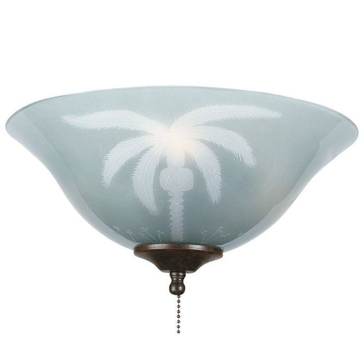 """View the Fanimation G210 13"""" Tropical Etched Glass Bowl Shade for F423 or FW423 Fitters at LightingDirect.com."""