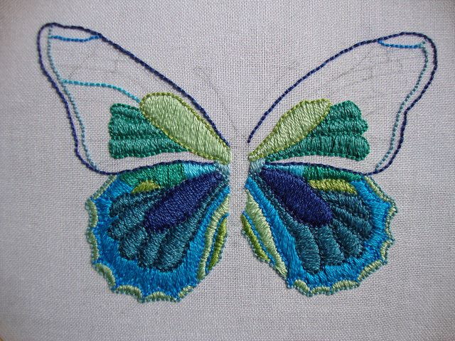 25 Best Butterfly Embroidery Ideas On Pinterest