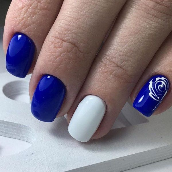 White Nail Art: Best 25+ Blue And White Nails Ideas On Pinterest