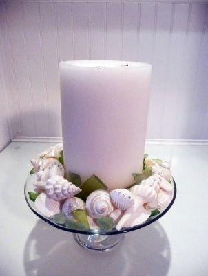 Seashell Centerpiece With Swarovski Crystals