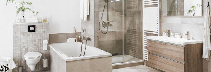 Alles wat u wenst is aanwezig in deze compacte badkamer. De variatie in tegels geven een bijzondere twist aan badkamer Mila. De inloopdouche is voorzien van een draaibare glaswand. Ideaal is het extra diepe bad, met schuine zijde. Dit oogt strak en ligt zeer comfortabel.