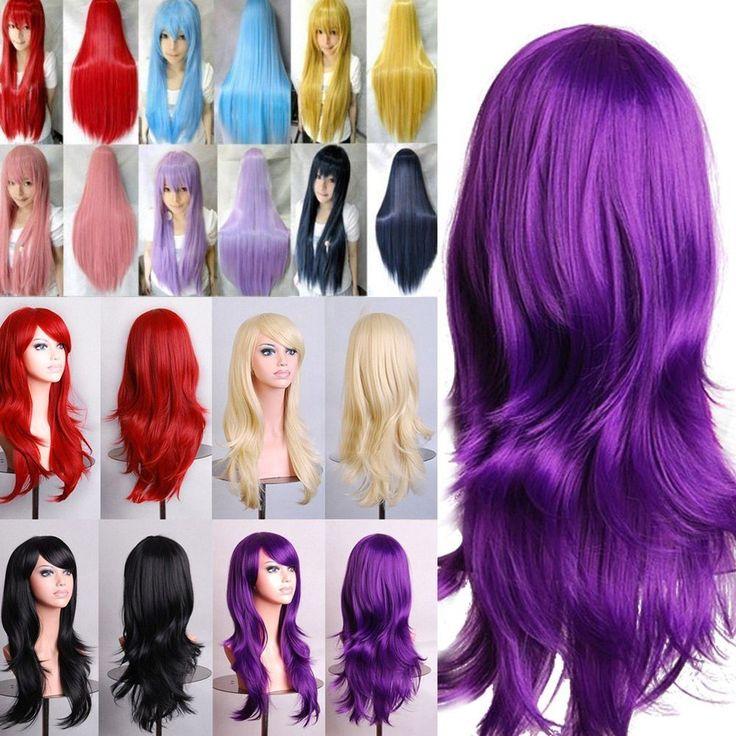 Cosplay Perruque Cheveux Longue Droite Ondulé Bouclés Deguisement Wig Femmes #UnbrandedGeneric