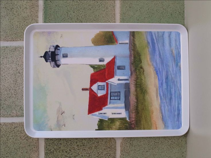 West Chop Lighthouse, Martha's Vineyard, Ma , cape and island  serving tray, house warming gift, west chop lighthouse gift  beach house art, by ShirleyBell on Etsy