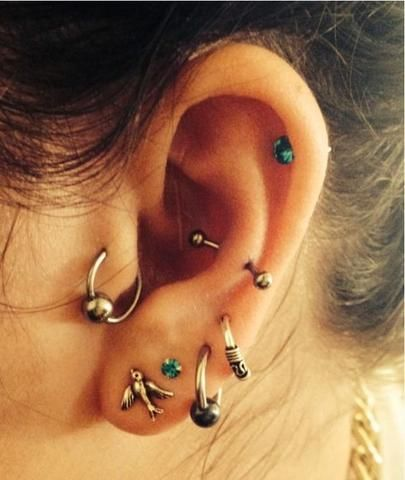 30+ Ideas of Multiple Ear Piercings at MyBodiArt