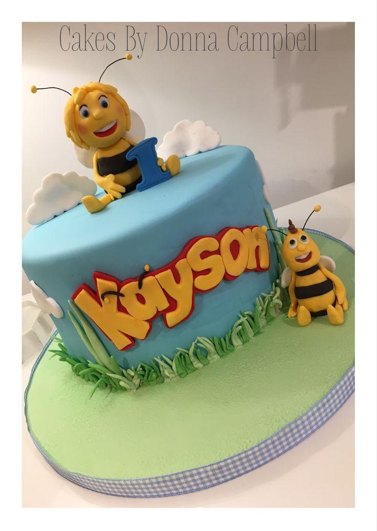 Maya the Bee first Birthday cake